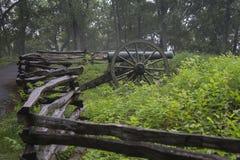 Parkerar den nationella slagfältet för det Kennesaw berget Arkivbilder