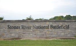 Parkerar den nationella slagfältet för stenfloden Murfreesboro Arkivbild