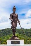 Parkerar den stora konungen för statyer av Thailand i Rajabhakti Arkivfoto