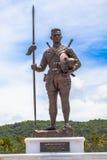 Parkerar den stora konungen för statyer av Thailand i Rajabhakti royaltyfria foton