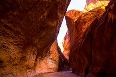 Parkerar nationellt geologiskt för det Tianshan Grandet Canyon arkivbilder
