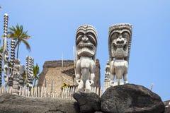 Parkerar nationellt historiskt för Pu-uhonuaohonaunau den stora ön hawaii Royaltyfri Bild