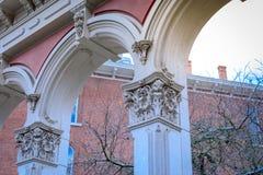 Parkerar offentlig konst för barock stil på den Skidmore springbrunnen i gammal stad D Royaltyfria Bilder