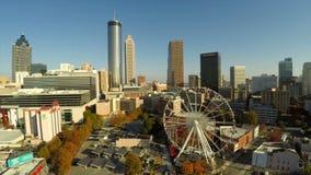 Parkerar olympisk Atlanta flyg- Cityscape lager videofilmer