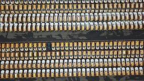 Parkeren van taxiauto's Lucht Mening stock videobeelden