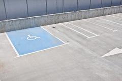 Parkeren voor gehandicapten Stock Fotografie