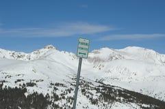 Parkerend Toegelaten Colorado hoog land Royalty-vrije Stock Afbeeldingen