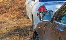 Parkerende gebruikte auto's Royalty-vrije Stock Afbeelding