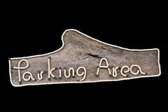 Parkerende houten tekens Royalty-vrije Stock Foto's