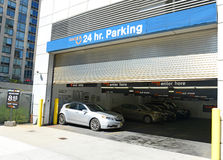 Parkerengarage in Manhattan, NYC Stock Foto
