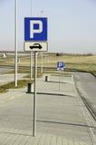 Parkering av bilar Arkivbild