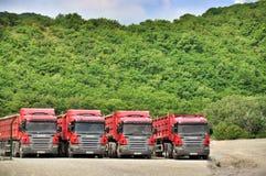 Parkering av lastbilar Royaltyfri Foto
