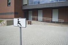 Parkering för handikappade personer Fotografering för Bildbyråer