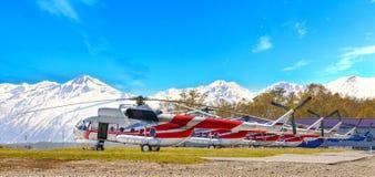 Parkering för helikoptrar Royaltyfria Foton