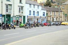 Parkering för motorisk cirkulering, Matlock bad, UK fotografering för bildbyråer
