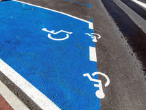 Parkering för rullstolar Arkivbild
