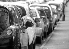Parkering för stadsmitt Arkivfoto