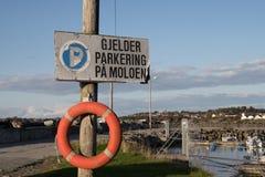 Parkering forbudt Στοκ φωτογραφία με δικαίωμα ελεύθερης χρήσης