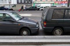 Parkering i paris Arkivbild