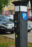 Parkering i parkeringsplatsen Royaltyfri Fotografi