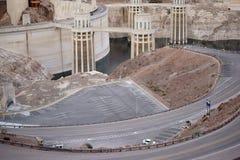 Parkering på dammsugarefördämningen Arkivfoto