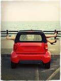 Parkering vid havet Royaltyfria Foton