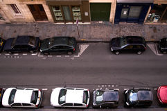 parkeringsgata royaltyfria bilder