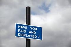 parkeringshustecken Fotografering för Bildbyråer