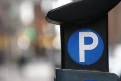 Parkeringsmeter Arkivbilder