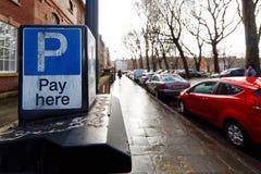 Parkeringsmeter, Bristol, England Arkivfoto
