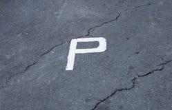 Parkeringsområde royaltyfri fotografi