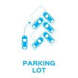 Parkeringsplats royaltyfri illustrationer