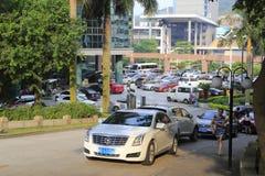 Parkeringsplats av det xiamen hotellet Royaltyfri Foto