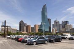 Parkeringsplats i Dallas Downtown, USA royaltyfria bilder