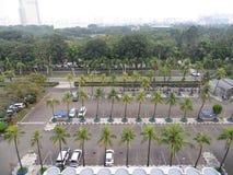 Parkeringsplats i Jakarta Royaltyfria Foton