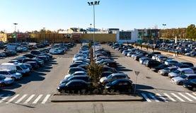 Parkeringsplats latvia royaltyfri bild