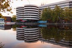 Parkeringsplatsen i Amsterdam royaltyfri bild