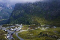 Parkeringsplatsen i himmel Arkivbild