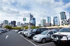 Parkeringsplatser Arkivfoto