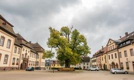 Parkeringsplatser av abbotskloster av St Peter av Schwarzwald Arkivbild