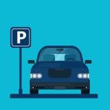 Parkeringsplatsvektorillustration Royaltyfria Bilder