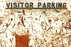 parkeringsteckenbesökare Arkivfoto