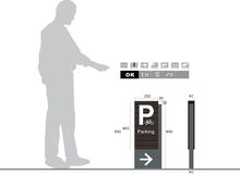 Parkeringstrafiktecken på vit bakgrund Fotografering för Bildbyråer