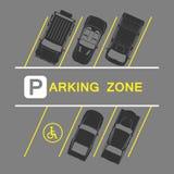 Parkeringszon Vektor Illustrationer