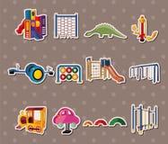 Parketiketter stock illustrationer