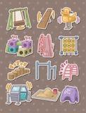 Parketiketter royaltyfri illustrationer