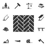 Parketpictogram Gedetailleerde reeks bouwmaterialenpictogrammen Het grafische ontwerp van de premiekwaliteit Één van de inzamelin vector illustratie