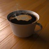 parkett för kaffegolvmorgon Royaltyfri Fotografi