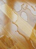 parkett tappar träsurface vatten Royaltyfri Fotografi
