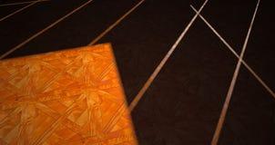 Parkettboden mit geometrischem Schatten Stockbilder